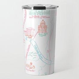 Austin, Texas Illustrated Calligraphy Map Travel Mug