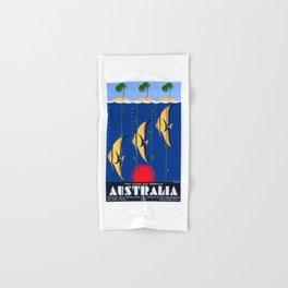 1930 Australia Great Barrier Reef Travel Poster Hand & Bath Towel