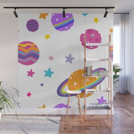 Planet Awesome Wall Mural