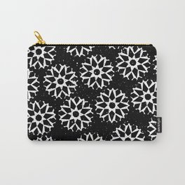 Winter Snowflakes At Midnight Contemporary Christmas Scatter Pattern Carry-All Pouch