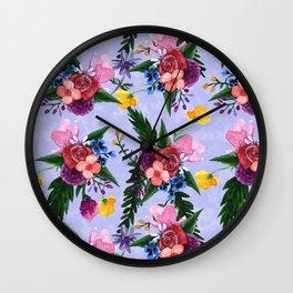 Light Watercolor Floral Wall Clock