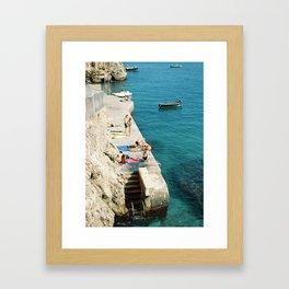 Summer is here   Amalfi coast travel photography print   Italy Framed Art Print