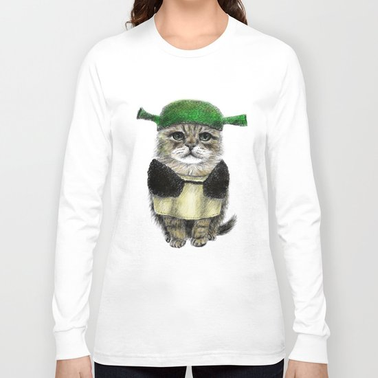 Shreky Cat Long Sleeve T-shirt