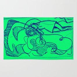 Sketchy Girl Mint Rug