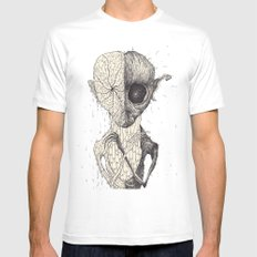 The Patient MEDIUM White Mens Fitted Tee