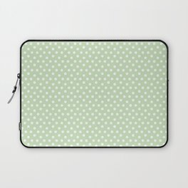 Modern pastel green white cute hipster polka dots Laptop Sleeve