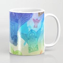 Vintage Flying Jukebox Rainbow Coffee Mug