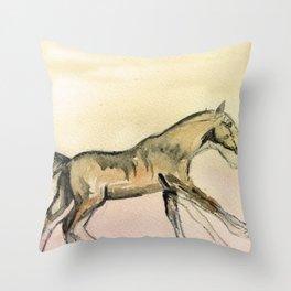 Horses gait Throw Pillow