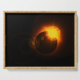 Total  Eclipse Astro Photography Serving Tray