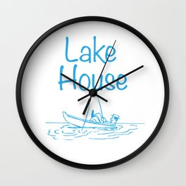 "Inspiration sayings-""Lake House"" Wall Clock"