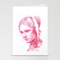 jane eyre Stationery Cards featuring Jane Eyre glowing by Jonathan Snowden