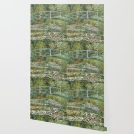 "Claude Monet ""Bridge over a Pond of Water Lilies"" Wallpaper"