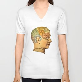 Phrenology | A Picture of Good Health circa 1881 Unisex V-Neck