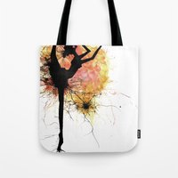 dancer Tote Bags featuring dancer by liva cabule