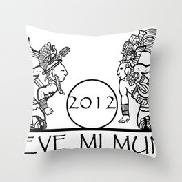 Mayan 2012 Mueve Mi Mundo (Tshirt) Throw Pillow