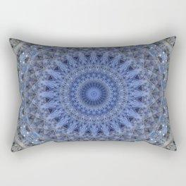 Gray and blue mandala Rectangular Pillow