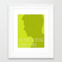the perks of being a wallflower Framed Art Prints featuring The Perks of Being a Wallflower by Justified