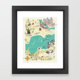 Princess Bride Discovery Map Framed Art Print