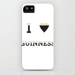I heart Guinness iPhone Case