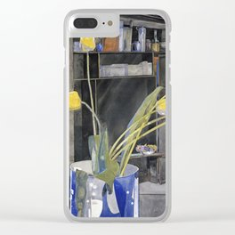 Charles Rennie Mackintosh - Yellow Tulips Clear iPhone Case