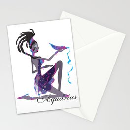 Starlight Aquarius Stationery Cards