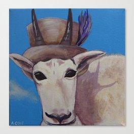 A Tragically Hip Mountain Goat Canvas Print