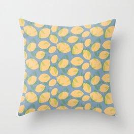 Lemon Love/Cool Blue Throw Pillow