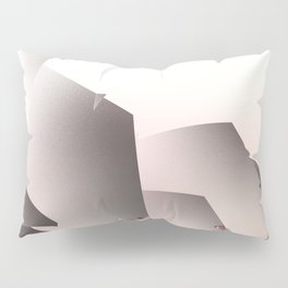 Misty Morning in Abstract Landscape Pillow Sham