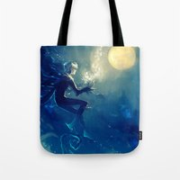 jack frost Tote Bags featuring Jack Frost by AkiMao