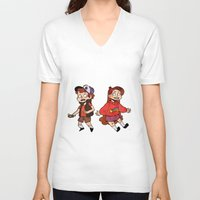 gravity falls V-neck T-shirts featuring Gravity Falls by Corelle_Vairel
