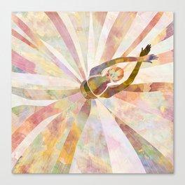 Sleeping Ballerina Floral - Gold Summer Palette Canvas Print