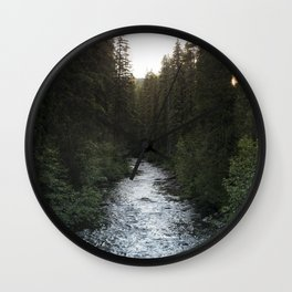 A Forest Path Wall Clock