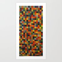 checkered my flag  Art Print