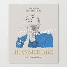 La Passion de Jeanne D'Arc Canvas Print