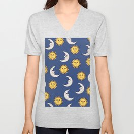 Moon and Sun Unisex V-Neck