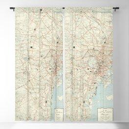 Vintage Map of Tokyo Japan (1954) Blackout Curtain