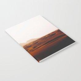 Minimalist Desert Landscape Sand Dunes With Distant Mountains Notebook