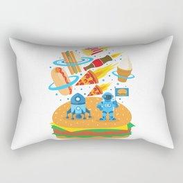 Space Burger Rectangular Pillow
