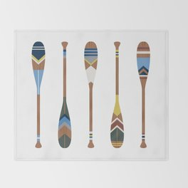 Painted Oars Throw Blanket