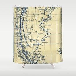 Patagonia - Blue Vintage Shower Curtain