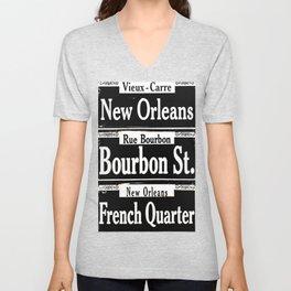 New Orleans French Quarters Unisex V-Neck
