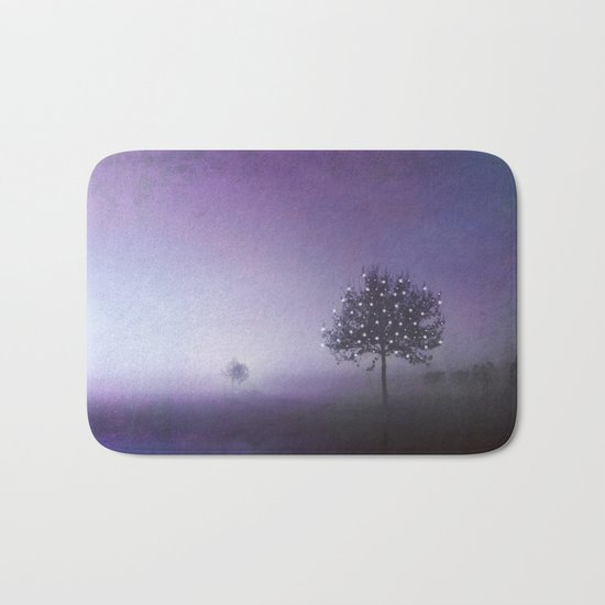 SOLITUDE IN TIME - PURPLE Bath Mat