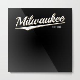 Retro Classic City of Milwaukee Wisconsin Vintage Metal Print