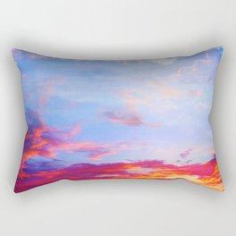 fire clouds v Rectangular Pillow