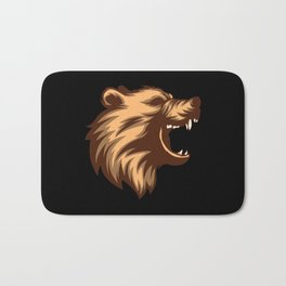 Angry Grizzly Bear Bath Mat
