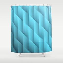 Gradient Teal Diamonds Geometric Shapes Shower Curtain