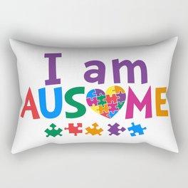 I Am Ausome Autism Awareness Rectangular Pillow