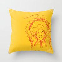anchorman Throw Pillows featuring Anchorman: Dreams of Fantana!!! by Red Misery