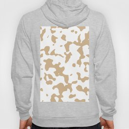 Large Spots - White and Tan Brown Hoody
