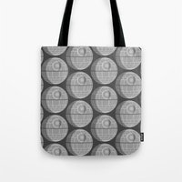 death star Tote Bags featuring Star Wars Death Star by foreverwars